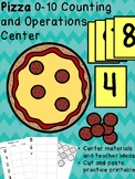 Pizza Math Center  #0-10, Cut & Paste, Teaching Ideas