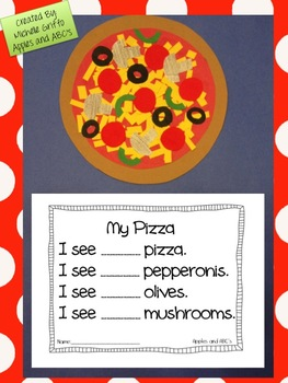 pizza math craftivity by michelle griffo from apples and abc 39 s tpt. Black Bedroom Furniture Sets. Home Design Ideas
