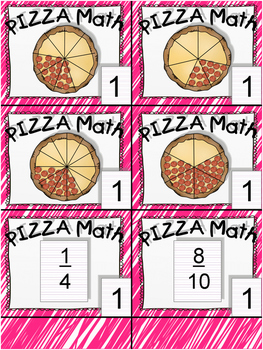 Pizza Math Fraction Board Game