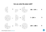 Pizza Math Fractions