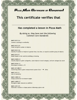 Pizza Math Worksheets