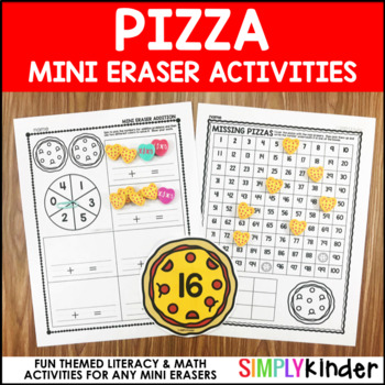Pizza Mini Eraser Activities