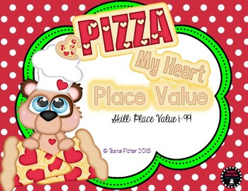 Pizza My Heart Place Value 1-100 Math Center First Second Grade