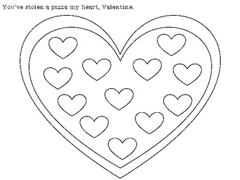 Pizza My Heart Valentines Speech & Language Freebie!