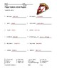Pizza Names Word Search and Vocabulary Puzzle Worksheets