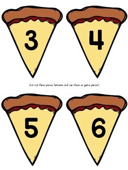 Pizza Number Matching File Folder Game