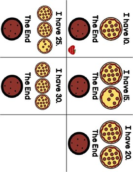 I Have, Who Has? Pizza Numbers 0-30