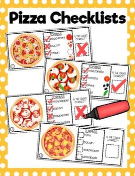 Pizza Order Checklists
