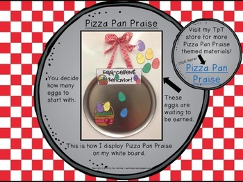 Classroom Management - Pizza Pan Praise {Easter egg}