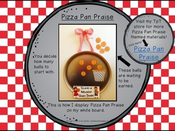 Classroom Management - Pizza Pan Praise {basketball}