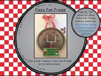 Classroom Management - Pizza Pan Praise {football}