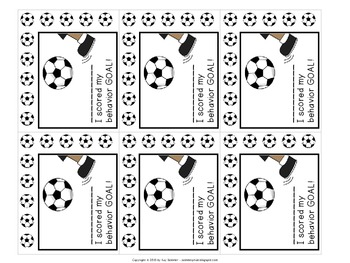 Classroom Management - Pizza Pan Praise {soccer}