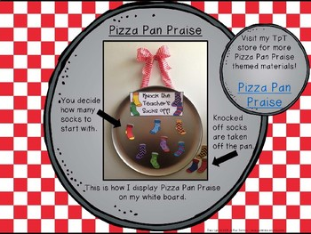 Classroom Management - Pizza Pan Praise {socks}
