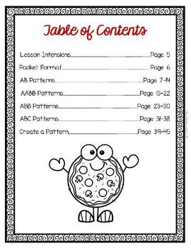 Pizza Parlor 5 Pattern Lessons Bundle