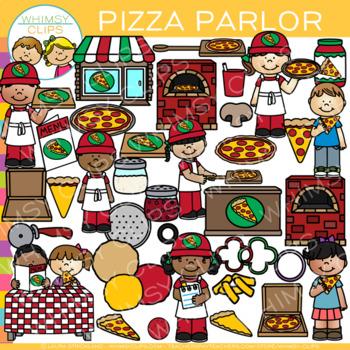Pizza Parlor Clip Art {Dramatic Play Pizza Clip Art}