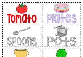 Pizza Parlor Labels and Menu