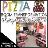 Pizza Parlor Room Transformation Shape Unit