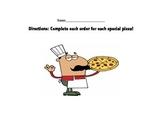 Pizza Parts!  Fraction Practice