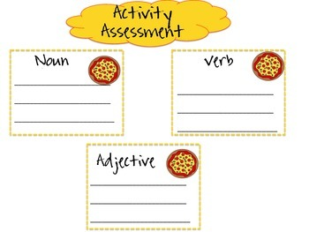 Pizza Parts of Speech
