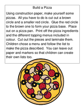 Pizza Party Activity
