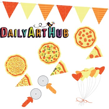 Pizza Party Clip Art - Great for Art Class Projects!