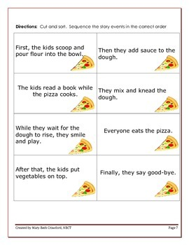 Pizza Party! {Comprehension and Skills}