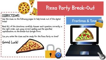 "Pizza Party Digital ""Escape Room"""