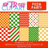 Pizza Party Digital Papers