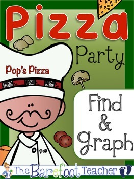 Pizza Party Find, Count, & Graph Math Activity {Graphing}