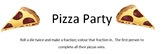 Pizza Party Game - Fractions