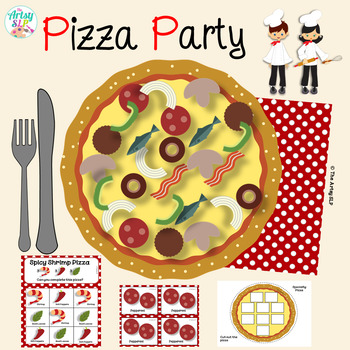 Pizza Party Language Activity Packet