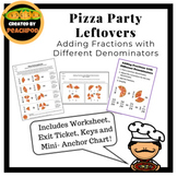 Pizza Party Leftovers: Adding Fractions with Different Denominators