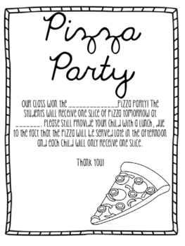 Pizza Party Notes