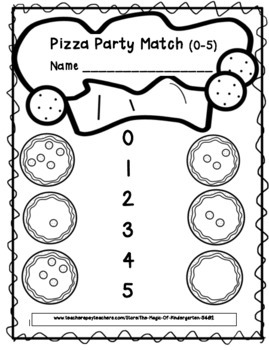 Pizza Party Number Packet