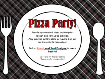 Pizza Party! Open Ended Craftivity FREEBIE!