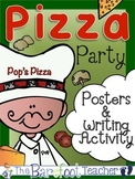 Pizza Party Posters (12 Total) & Writing Activity