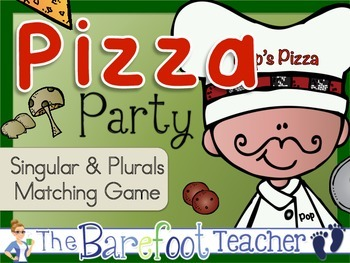 Pizza Party Singular & Plural Matching Game with a twist!