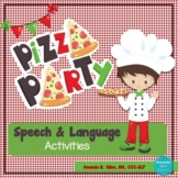 Pizza Party Speech & Language: WH Questions, Verbs, Follow