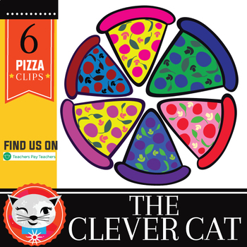 Pizza Party Time! 6 Piece Clip Set Freebie! (by The Clever Cat)