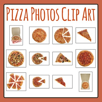 Pizza Photo / Photograph Clip Art Set for Commercial Use