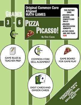 Pizza Picasso!A  Fast-Paced Common Core Aligned Long Division Game for Gr. 4-6