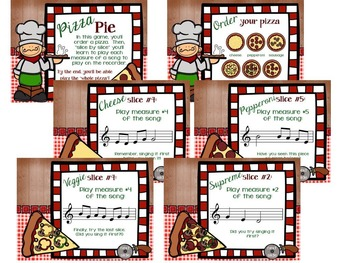 "Pizza Pie, a ""Slice by Slice"" B-A-G-E-D Recorder Activity and Flashcards"