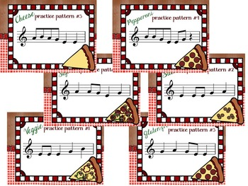 "Pizza Pie, a ""Slice by Slice"" B-A-G-E Recorder Activity and Flashcards"