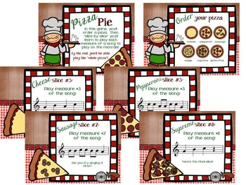 "Pizza Pie, a ""Slice by Slice"" C'-B-A-G Recorder Activity and Flashcards"