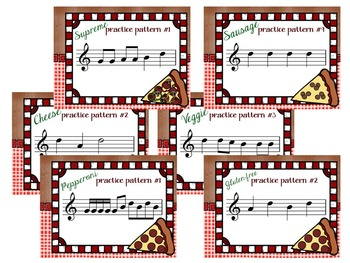 """Pizza Pie, a """"Slice by Slice"""" D'-C'-B-A-G Recorder Activity and Flashcards"""