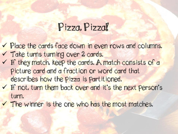 Pizza Pizza - A Partitioning Match Game