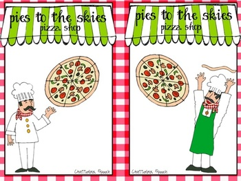Pizza, Pizza!! Thematic, open-ended games for speech therapy & centers