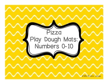 Pizza Play Dough Mats Numbers 0 to 10 FREEBIE
