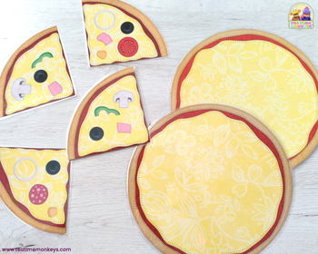 PIZZA, PLEASE ! PRINT & PLAY matching and memory game / Dramatic play prop