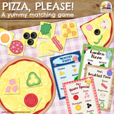 PIZZA, PLEASE ! PRINT & PLAY matching and memory game / Dr